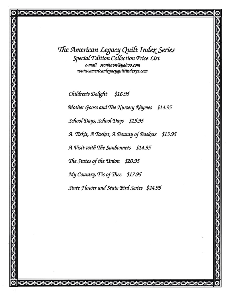 The American Legacy Quilt Index