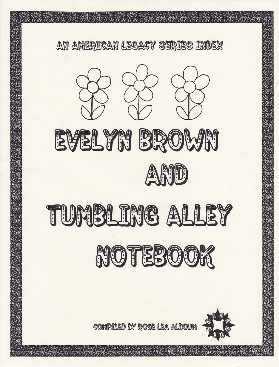 Evelyn Brown and Tumbling Alley Notebook