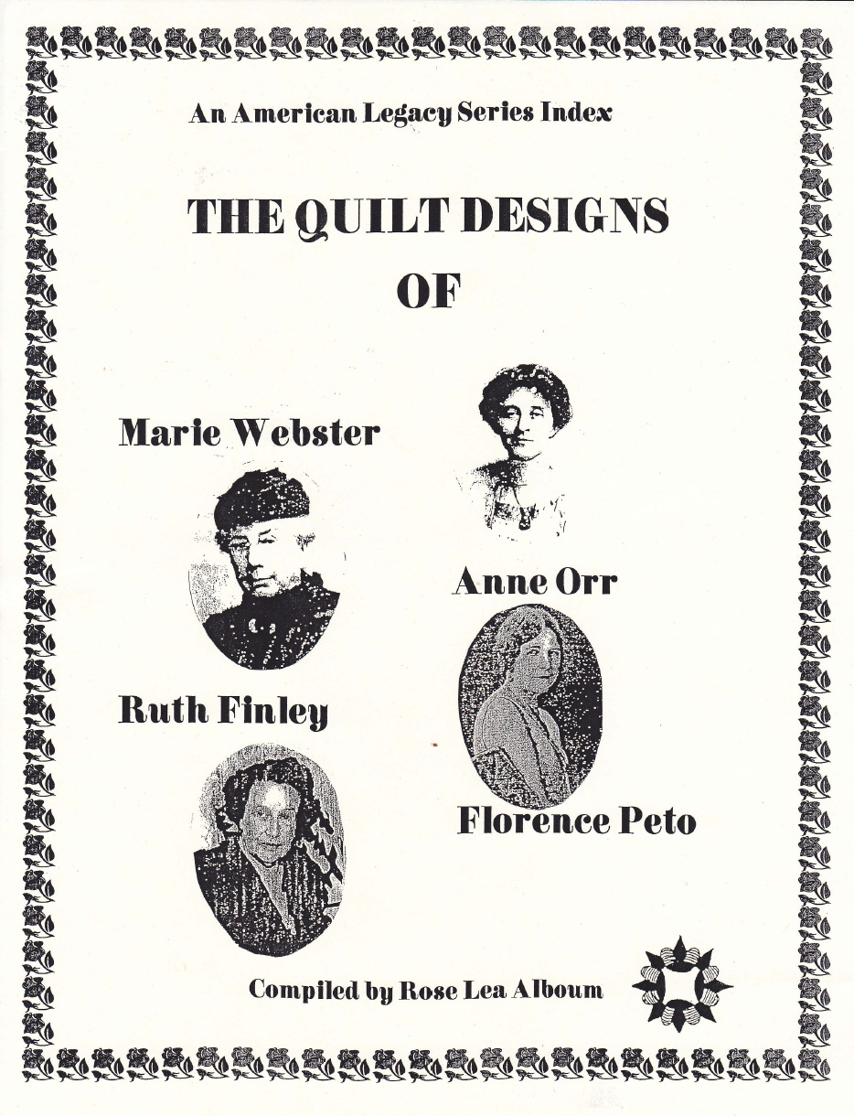 Marie Webster Anne Orr Ruth Finley Florence Peto