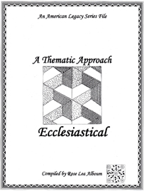 Ecclesiastical Quilt Block Patterns